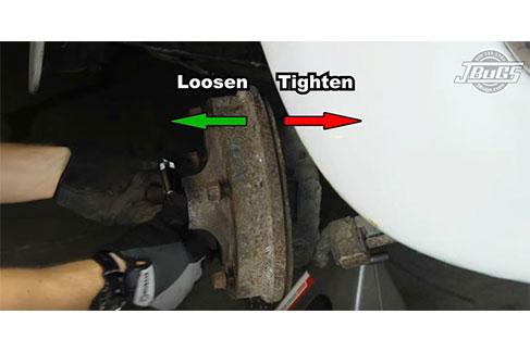 remove the right drum brake