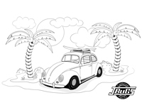 VW Kids- Bug at the beach 1