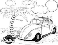 VW Kids- Bug at the beach 2