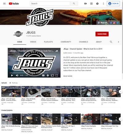 VW Parts | JBugs.com: JBugs Tech Tip Directory on