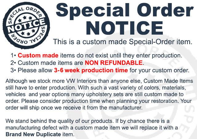 43-1122-Classic is a Special Order Item, not made until you order it.