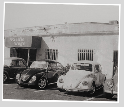 The old VW Shop in Oceanside.