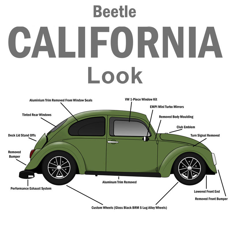 VW Parts | JBugs com: Cal-Look vs American Style  Whats the