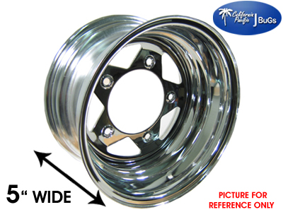 10 1023 Chrome Spoke Steel Vw Wheel 5 Lug 5x205