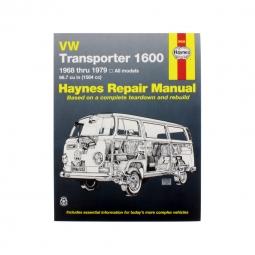 HAYNES 1600 TRANSPORTER BUS 1968-1979 REPAIR MANUAL VW 11-1078