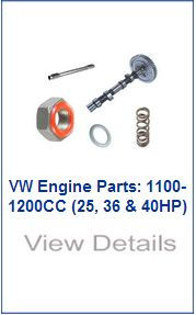 vw engine parts, 1100-1200cc
