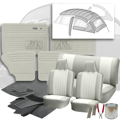 Deluxe 12 Inch Seat Insert Vw Interior Kit Beetle Sedan 1970 1972 Vw Parts