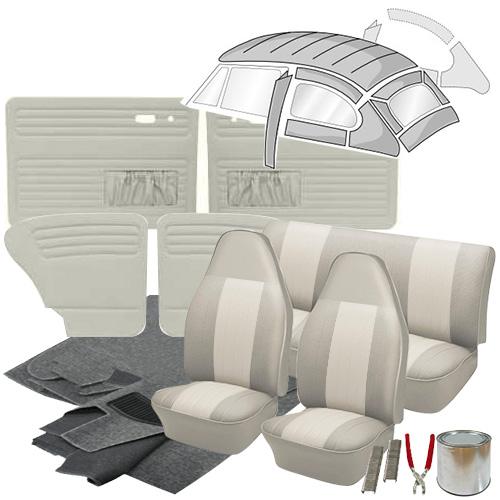 Deluxe 12 Inch Seat Insert Vw Interior Kit Super Beetle Sedan 1973 Vw Parts