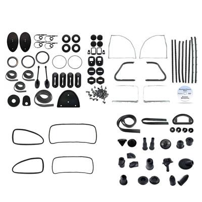 vw complete car rubber kit, cal-look, beetle sedan 1960