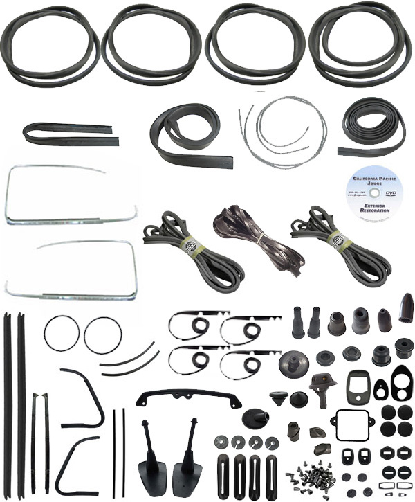 vw complete car rubber kit  cal