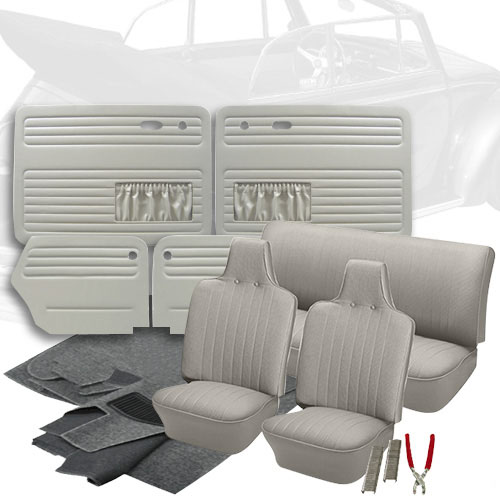 Deluxe Basket Weave Vw Interior Kit  Super Beetle Convertible 1971