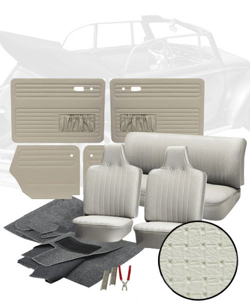Deluxe square weave vinyl vw interior kit super beetle convertible 1971 1972 vw parts for Deluxe interior design studio kit