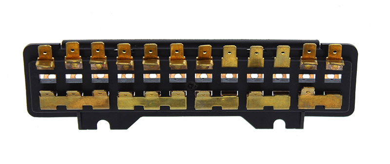 111937505G VW 12FUSE SINGLE FUSEBOX vw bug & super beetle fuses & fuse boxes vw parts jbugs com Super Beetle Fuse Box at crackthecode.co