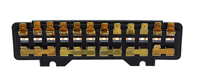 111937505G VW 12FUSE SINGLE FUSEBOX_MAIN vw fusebox, 12 fuse, standard & super beetle 1971 72, karmann ghia 1969 vw bug fuse box at aneh.co