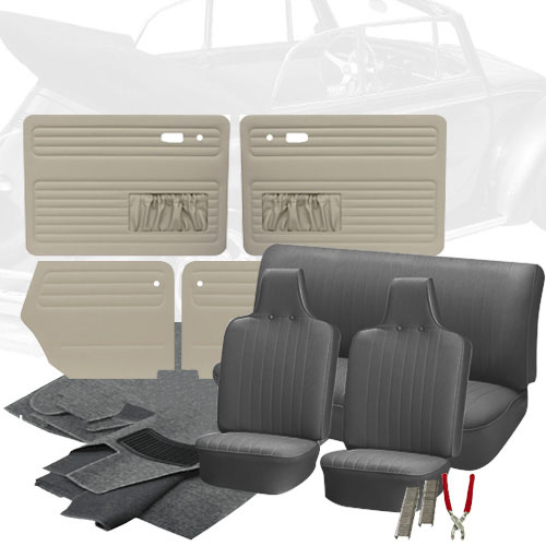 deluxe tweed cloth vw interior kit beetle convertible 1970 vw parts. Black Bedroom Furniture Sets. Home Design Ideas