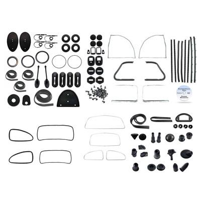 1961 vw bug complete car rubber kits
