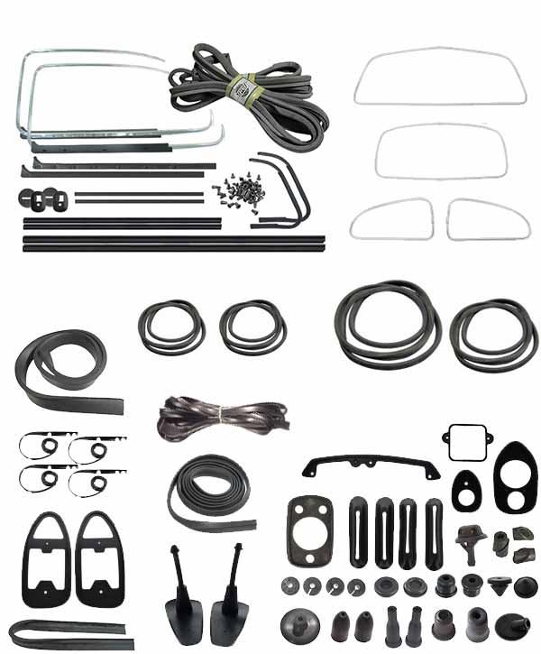 vw complete car rubber kit  american style  beetle sedan
