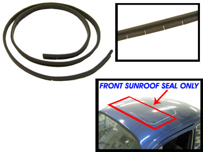 1971 Vw Super Beetle Parts >> VW Front Sunroof Seal, Long, Each, Made in Germany, Beetle 1964-1977 & Super Beetle 1971-1972 ...