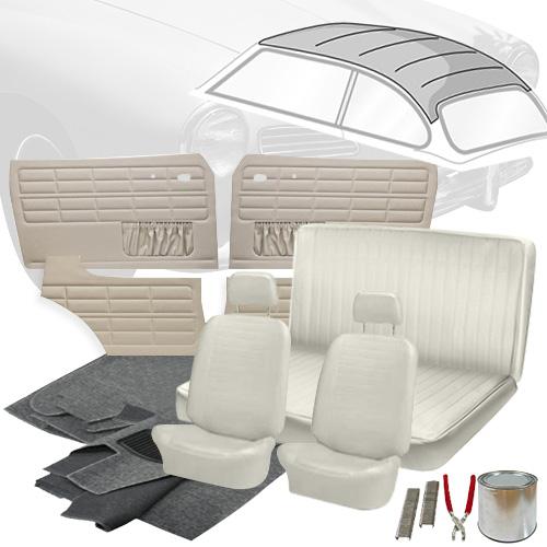 Deluxe Basket Weave Vw Interior Kit Karmann Ghia Coupe 1972 1974 Vw Parts