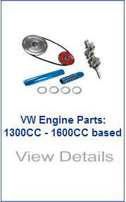 vw engine parts, 1300-1600cc