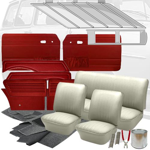 Deluxe Square Weave Vinyl VW Interior Kit, Squareback 1962-1964: VW Parts   JBugs.com