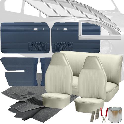 Deluxe Basket Weave Vw Interior Kit Fastback 1973 Vw Parts