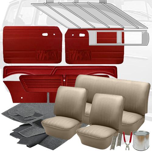 Deluxe Tweed Cloth VW Interior Kit, Squareback 1962-1964: VW Parts   JBugs.com