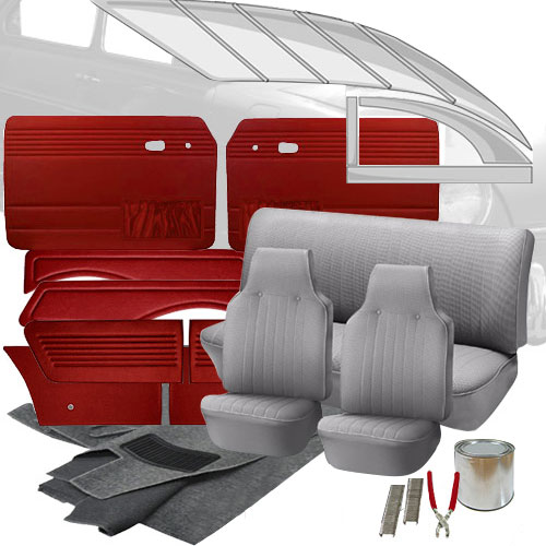 Deluxe Velour Cloth Vw Interior Kit Fastback 1968 1969 Vw Parts