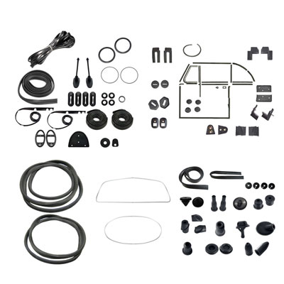 1963 vw convertible bug complete car rubber kits