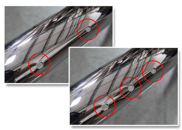 Blade Bumper Mounting Holes