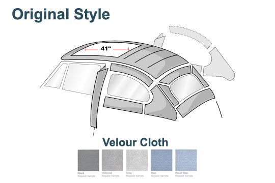 Vw Original Install Headliner Velour Select Color Beetle Ragtop 1955 1957