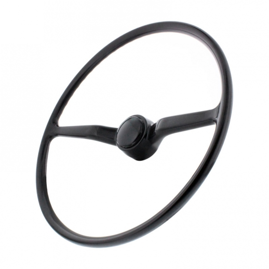 VW Steering Wheel with Horn Button, Black, Bus 1974 5-1979