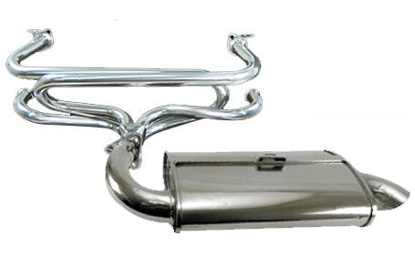 EMPI Phat Boy Muffler, Stainless Steel, and Premium Header, Ceramic Coated,  Type 1: 1300-1600cc, 66-