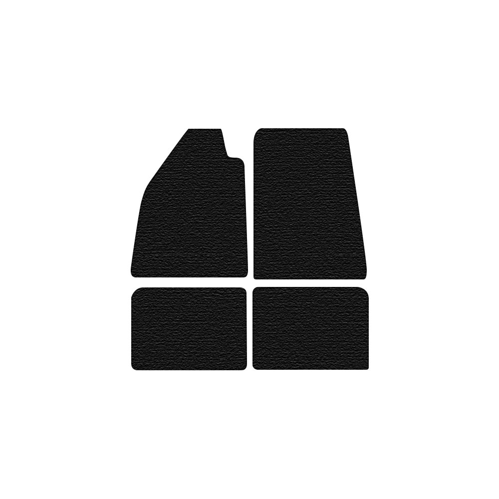 Tailored Black Car Floor Mats Carpets 4pc Set with Clips for Volkswagen Beetle