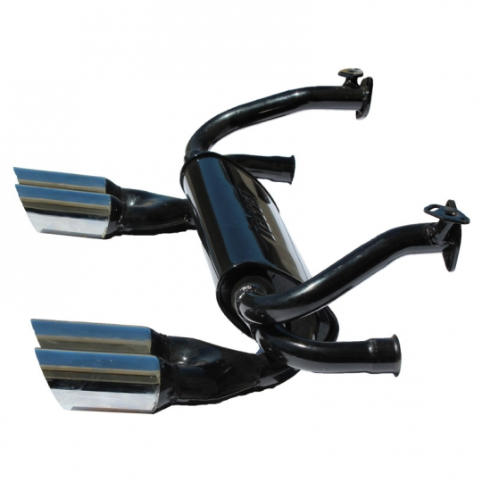 Vw 4 Tip Gt Exhaust System Black With Chrome Tips Beetle Ghia: Empi Vw Exhaust At Woreks.co