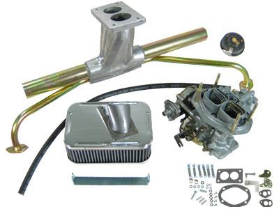 VW WEBER Progressive 32/36 Single Carburetor Kit, 2 Barrel