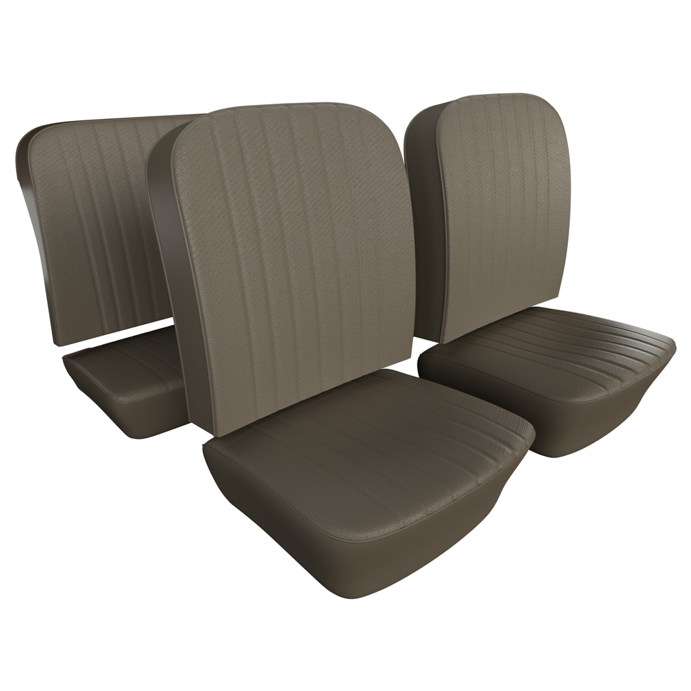 VW Seat Upholstery, Full Set, Basketweave Vinyl-Select