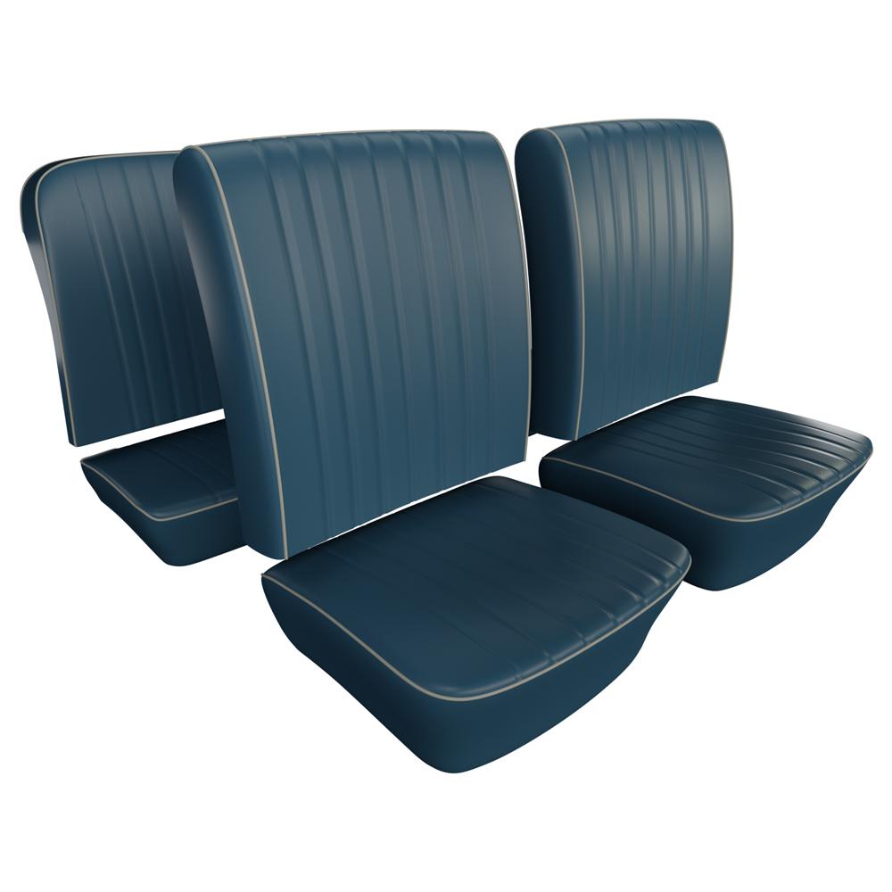Vw Seat Upholstery Full Set Basketweave Vinyl Select Color Beetle Sedan 1965 1967 Vw Parts Jbugs Com