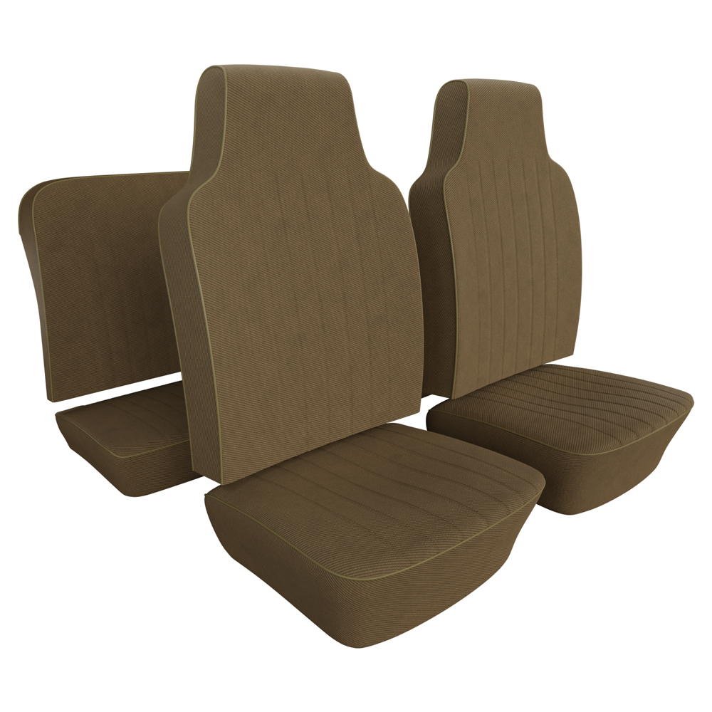 VW Seat Upholstery, Full Set, Tweed Cloth-Select Color