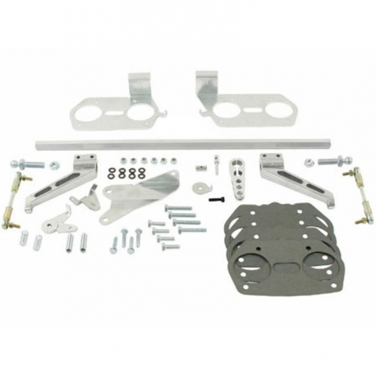EMPI 40/44 IDF/HPMX Dual Carburetor VW Type 2/4 Hex Bar Linkage Kit