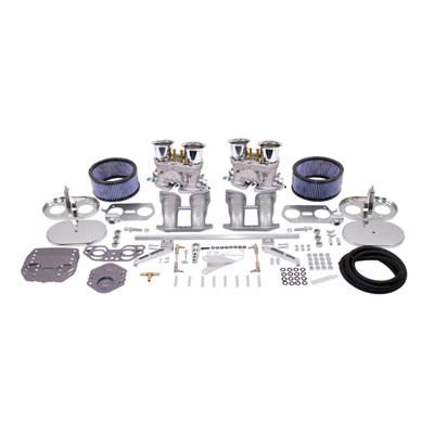 Empi Dual 44hpmx Dual Carb Kit W Chrome Air Cleaners For Type 2 4 Engines Vw Parts Jbugs Com