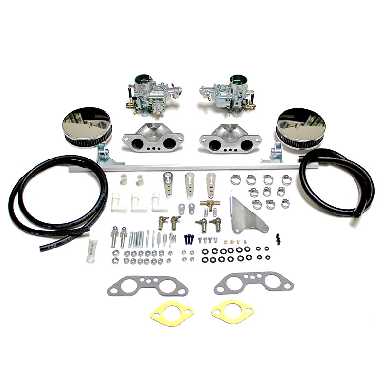 empi dual 34 epc carb kit w   air cleaners  bus 1972