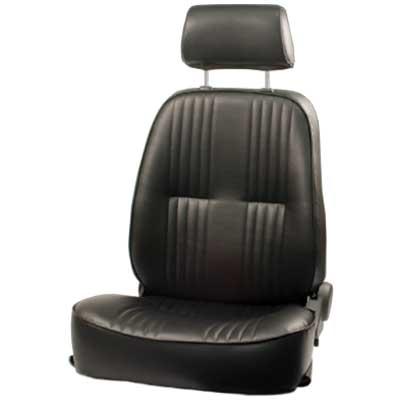 EMPI Race Trim Black Vinyl Reclining Low Back Bucket Seat with Headrest,  Left