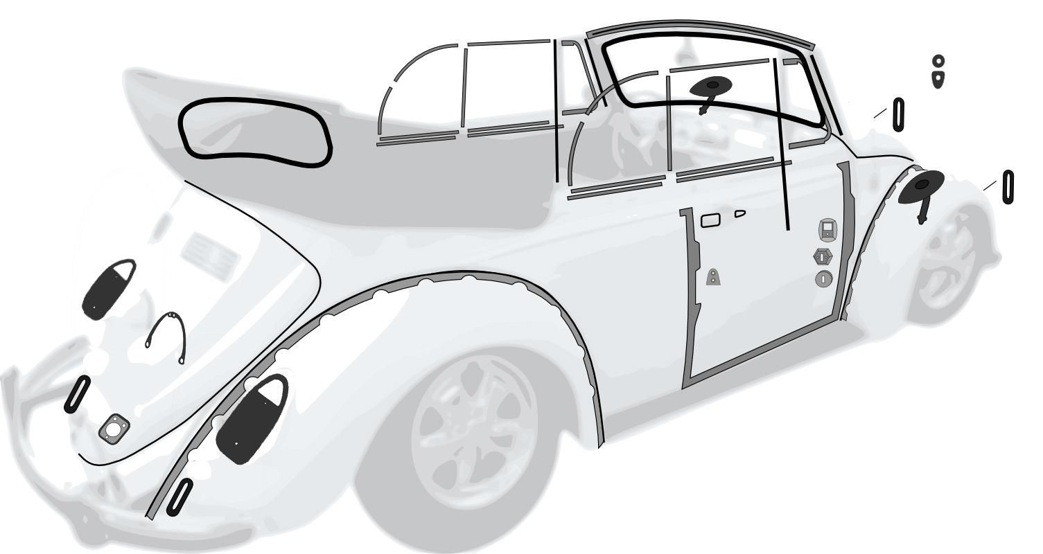 111937505g vw fusebox 12 fuse standard super beetle 1971 72 vw complete car rubber kit cal look super beetle convertible 1971