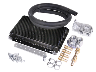 EMPI Universal Competition Oil Cooler Kit, 48 Plate with Bypass Adapter