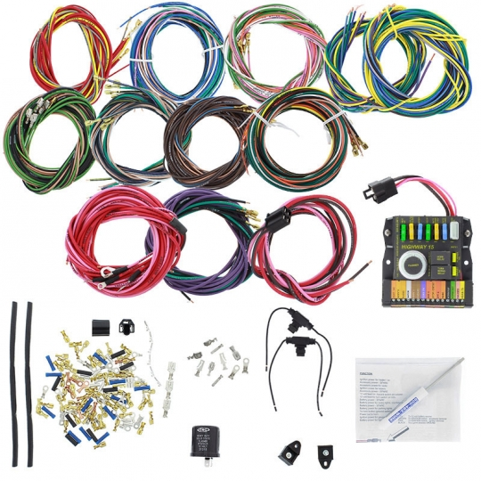 American Autowire 1962-74 VW Beetle Custom Wiring Harness with Fuse Box &  Relays: VW Parts | JBugs.comJBugs
