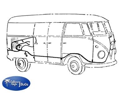 vw main wiring loom kit bus 1964 1967 vw parts jbugs com rh jbugs com vw bus wiring harness routing vw bus wiring harness installation
