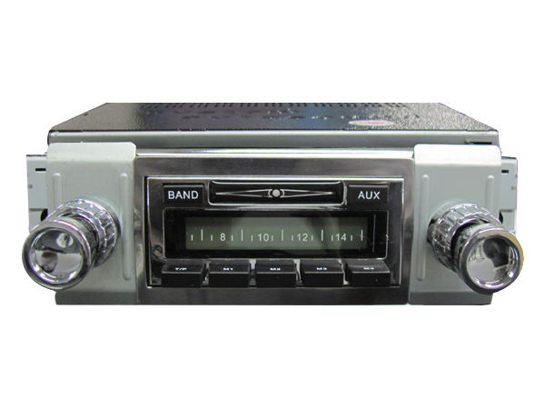vw custom auto sound radio w auxiliary input vw bus 1949 1967 vw parts. Black Bedroom Furniture Sets. Home Design Ideas