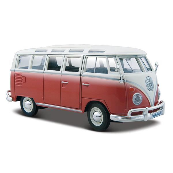 Volkswagen Bus Parts: VW 21 Window Samba Van 1:25 Volkswagen Die Cast Model: VW