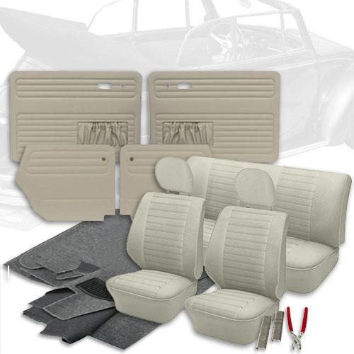 Ghia TMI VW Bug Type 3 /& Thing Vinyl Material Yardage #17 Red Bus